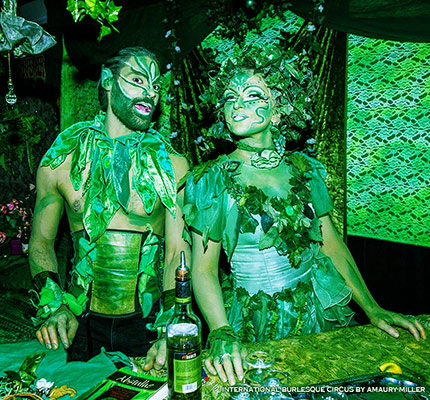 the absinthe bar at the International Burlesque Circus - the Exotic Sensations edition