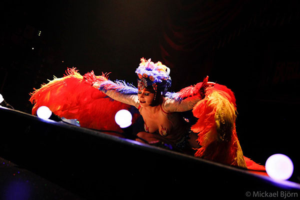 burlesqueshow by Diva Desaster at the Los Muertos Halloween edition of the International Burlesque Circus