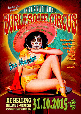 the Los Muertos Halloween edition of the International Burlesque Circus