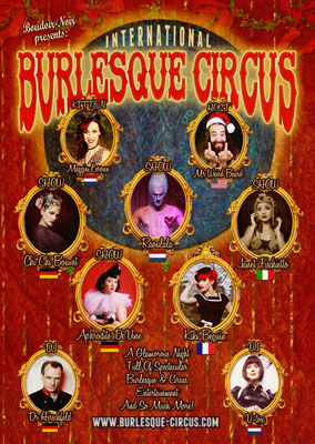 The Santa and his girls edition of the International Burlesque Circus