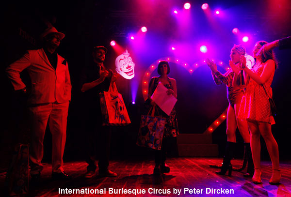 the winners of the charity lottery atthe International Burlesque Circus